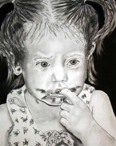 Lilliana charcoal portrait