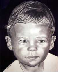 young boy charcoal portrait